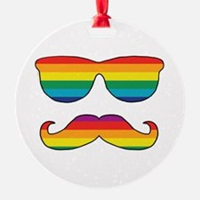 Rainbow Funny Face Ornament