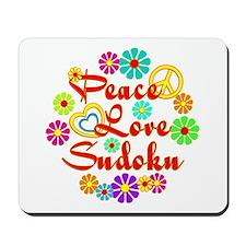 Peace Love Sudoku Mousepad
