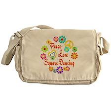 Peace Love Square Dancing Messenger Bag