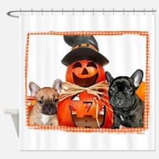 Halloween French Bulldogs Shower Curtain