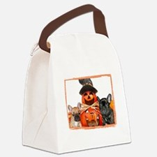 Halloween French Bulldogs Canvas Lunch Bag