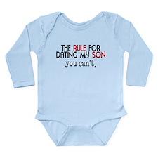 Rule For Dating My Son Long Sleeve Infant Bodysuit