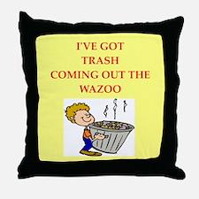 trash collectors Throw Pillow