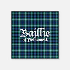 "Tartan - Baillie of Polkemett Square Sticker 3"" x"