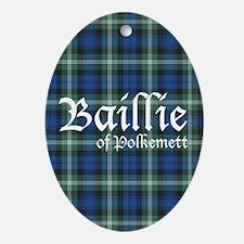 Tartan - Baillie of Polkemett Ornament (Oval)