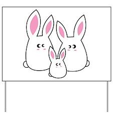 Trio of Rabbits Yard Sign