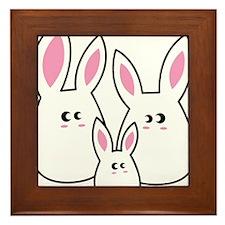 Trio of Rabbits Framed Tile