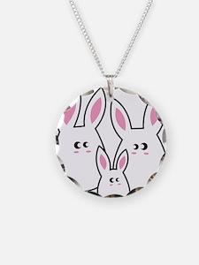 Trio of Rabbits Necklace