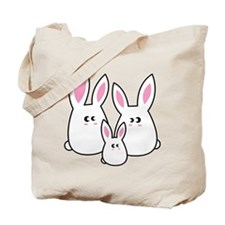 Trio of Rabbits Tote Bag