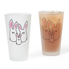 Trio of Rabbits Drinking Glass