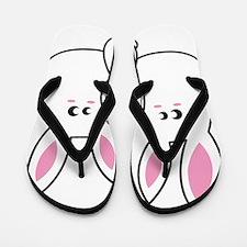 Trio of Rabbits Flip Flops