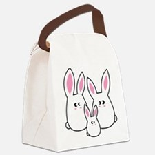 Trio of Rabbits Canvas Lunch Bag