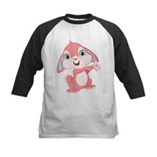 Pink Cartoon Rabbit Baseball Jersey