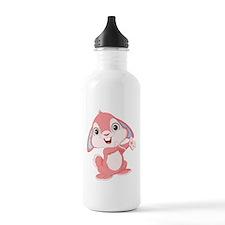 Pink Cartoon Rabbit Water Bottle