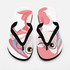 Pink Cartoon Rabbit Flip Flops