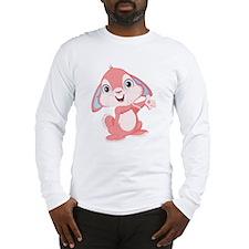 Pink Cartoon Rabbit Long Sleeve T-Shirt