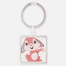 Pink Cartoon Rabbit Keychains