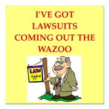 """LAWYER Square Car Magnet 3"""" x 3"""""""
