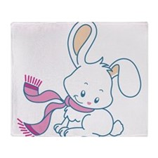 Unique Cute bunny Throw Blanket