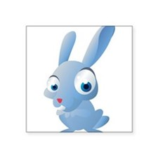Blue Cartoon Rabbit Sticker