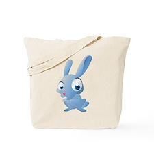 Blue Cartoon Rabbit Tote Bag