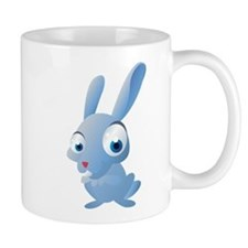 Blue Cartoon Rabbit Small Mugs