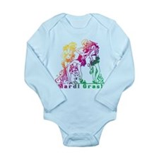 Mardi Gras Showgirls Long Sleeve Infant Bodysuit
