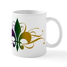 Purple Green Gold Fleur De Lis Mug
