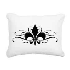 Fleur De Lis Rectangular Canvas Pillow