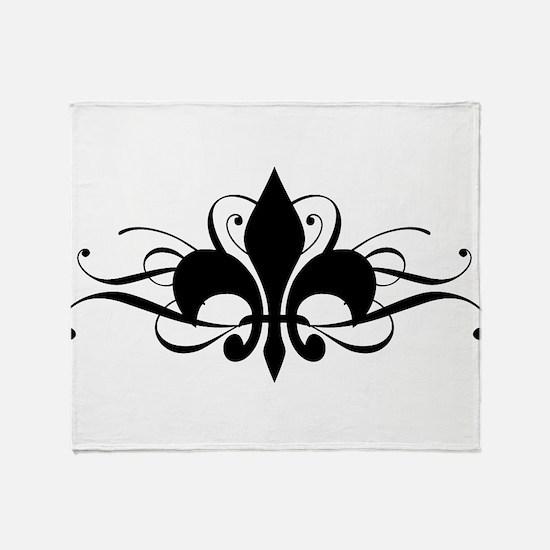 Fleur De Lis Throw Blanket