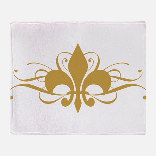 Light Fleur De Lis Throw Blanket