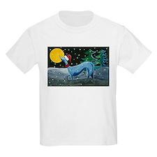 Christmas Italian Greyhound Kids T-Shirt