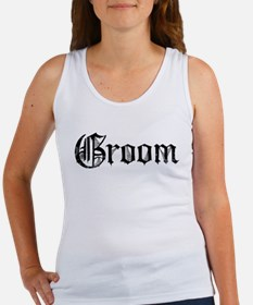 Gothic Text Groom Women's Tank Top