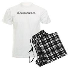 Gothic Text Groomswoman Pajamas