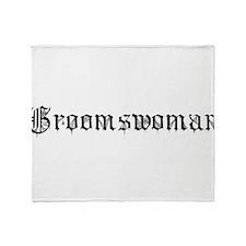 Gothic Text Groomswoman Throw Blanket