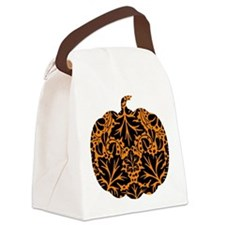 Damask Pattern Pumpkin Canvas Lunch Bag