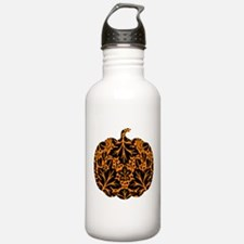 Damask Pattern Pumpkin Water Bottle