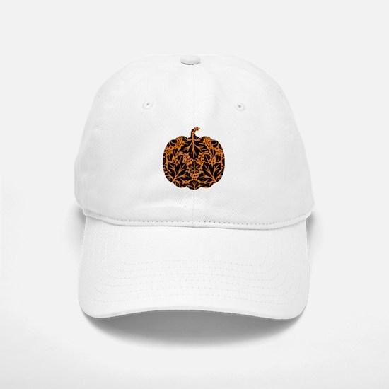 Damask Pattern Pumpkin Baseball Baseball Cap