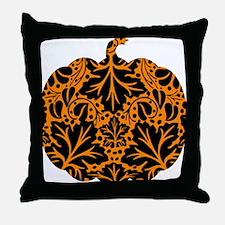 Damask Pattern Pumpkin Throw Pillow