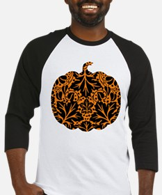 Damask Pattern Pumpkin Baseball Jersey