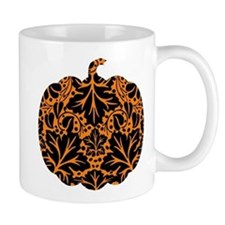 Damask Pattern Pumpkin Small Mug
