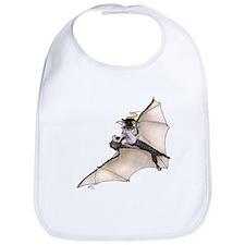 Tiny Witch On Bat Bib