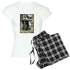 Victorian Halloween Bat Collage Pajamas