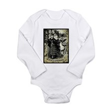 Victorian Halloween Bat Collage Long Sleeve Infant