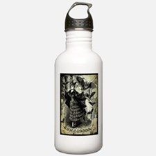Victorian Halloween Bat Collage Water Bottle