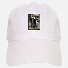 Victorian Halloween Bat Collage Baseball Baseball Cap