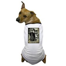 Victorian Halloween Bat Collage Dog T-Shirt