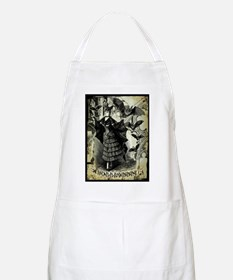 Victorian Halloween Bat Collage Apron