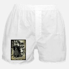 Victorian Halloween Bat Collage Boxer Shorts