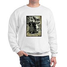 Victorian Halloween Bat Collage Sweatshirt